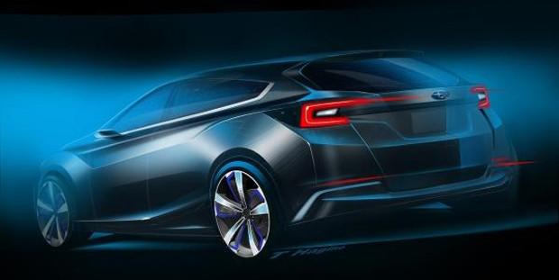 Traseira do Subaru Impreza 5-door Concept (Foto: Divulgação)