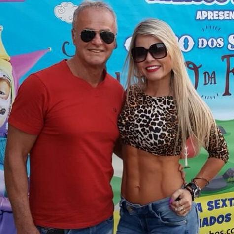 Kadu Moliterno e a namorada, Cristianne Rodriguez (Foto: Reprodução)