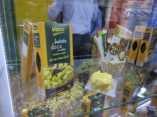 De olho no aumento do consumo de batata doce, Vapza lançou versão semi-pronta do alimento (Foto: Karina Trevizan/G1)