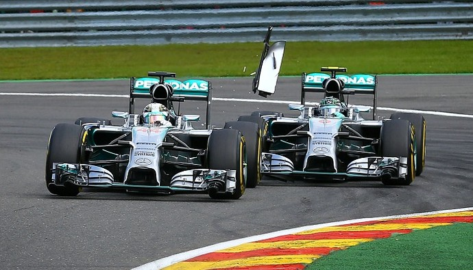 Lewis Hamilton Nico Rosberg acidente (Foto: Getty Images)