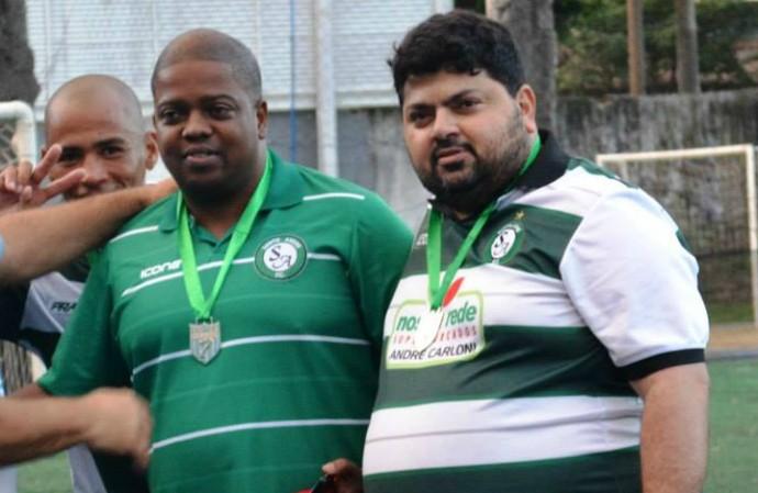 Alexandre Silveira e Ricardo Mesquita, gestores do time de futebol 7 do Santo André (Foto: Federação de Futebol 7 do Espírito Santo)