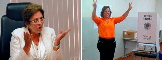 Governadora Rosalba Ciarlini e a prefeita de Mossoró, Cláudia Regina, foram condenadas por abuso de poder político (Foto: Ricardo Araújo/G1 e cedida/assessoria )