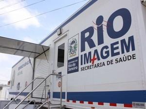 Tomógrafo móvel chega a Mendes, no sul do RJ (Foto: Assessoria de Imprensa da Secretaria Estadual de Saúde)