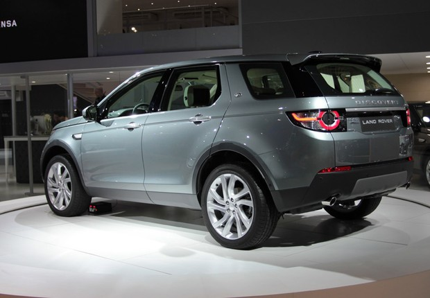 Land Rover Discovery Sport no Salão do Automóvel 2014 (Foto: Fabio Aro/Autoesporte)