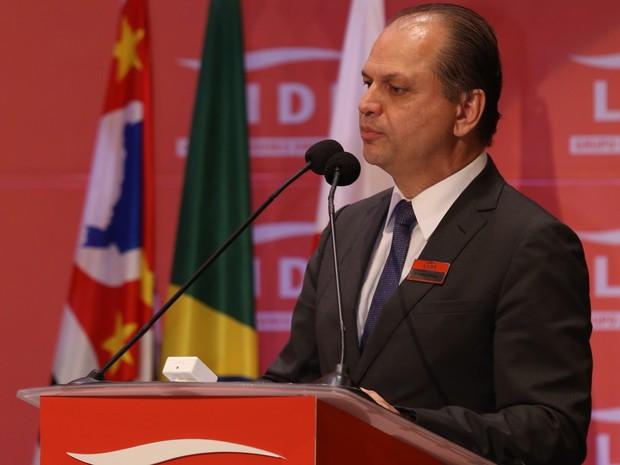 Ministro Ricardo Barros fala a empresários durante debate promovido pelo Lide (Grupo de Líderes Empresariais) em São Paulo (Foto: Fredy Uehara/Uehara Fotografia)