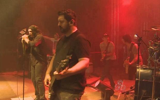 Banda Rosa de Saron no Círio Musical em Macapá (Foto: Reprodução/TV Amapá)