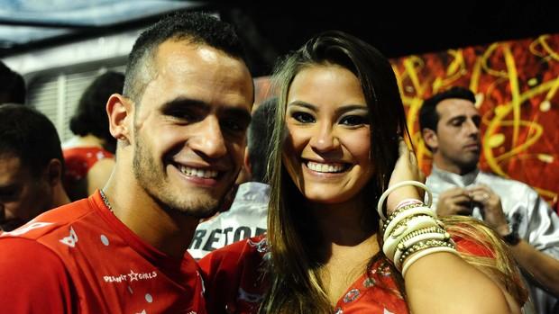 Renato Augusto no carnaval (Foto: Marcos Ribolli / Globoesporte.com)