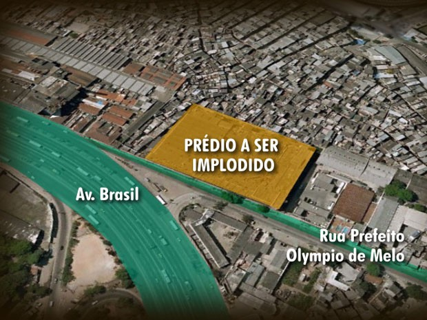 Implosão Mapa (Foto: Reprodução/ TV Globo)