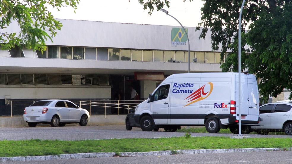 Terminal de Cargas do aeroporto Castro Pinto, na Grande João Pessoa, importou cerca de 32 toneladas em 2016 (Foto: Kleide Teixeira/Jornal da Paraíba)