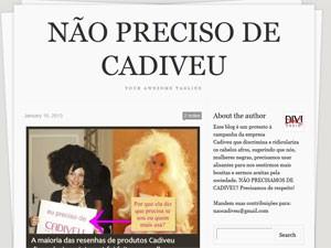 Página de protesto contra a marca Cadiveu criada no Tumblr (Foto: Reprodução)