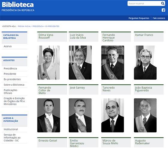Dilma entra para a galeria de ex-presidentes da Biblioteca da Presidência (Foto: Reprodução)