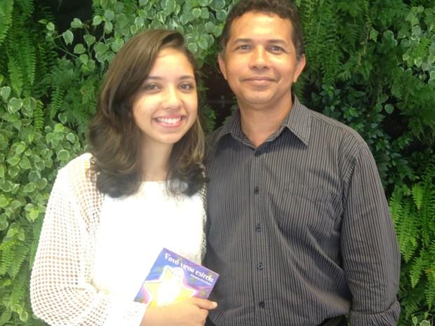 Geovanna e o pai, Vicente: 'Sentimento de dever cumprido' (Foto: Fernanda Borges/G1)