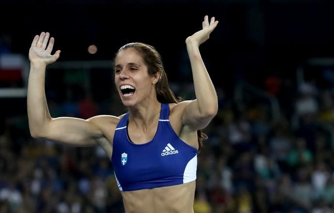 Ekaterini Stefanidi é a nova campeã olímpica do salto com vara (Foto: Getty Images)