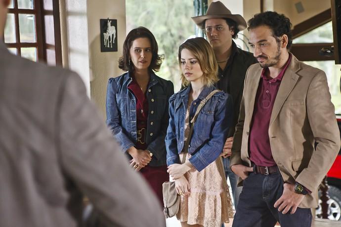 Os quatro filhos de Olinda, na trama (Foto: Ique Esteves / TV Globo)
