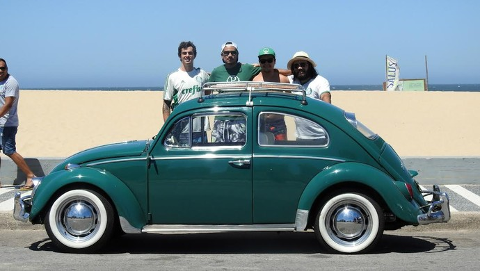 Quarteto viajou ao Uruguai para acompanhar o Palmeiras (Foto: Tossiro Neto)