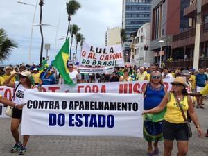 Protesto em Salvador (Foto: Ruan Melo/G1)