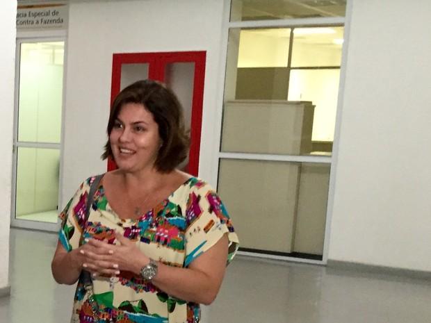 Roberta Santigo depõe sobre suposta fraude no carnaval do Rio (Foto: Henrique Coelho/G1)