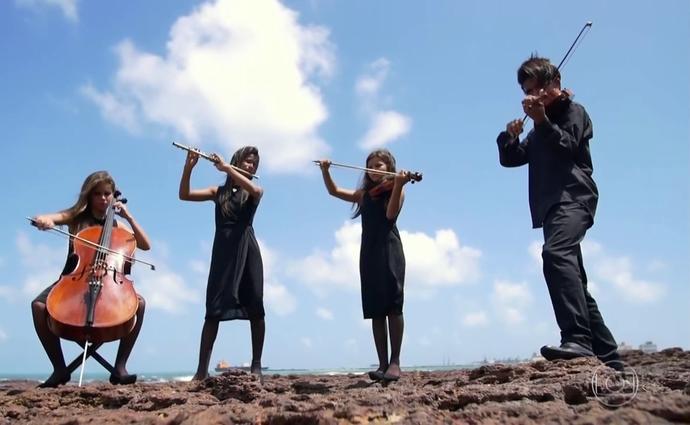A família Cruz é uma família de músicos (Foto: TV Globo)