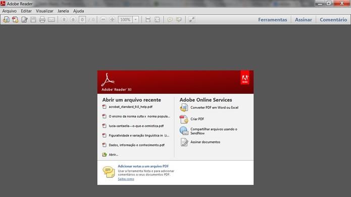 Possuindo cada vez mais ferramentas integradas a internet, o Adobe Reader manteve a função de acessar PDFs enquanto o PC estiver offline (Foto: Reprodução/Daniel Ribeiro)