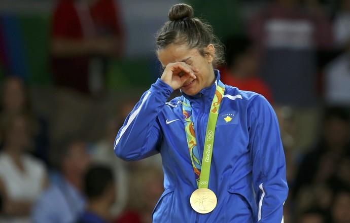 KELMENDI Majlinda, medalha de ouro, categoria até 52kg, judô (Foto: Reuters)