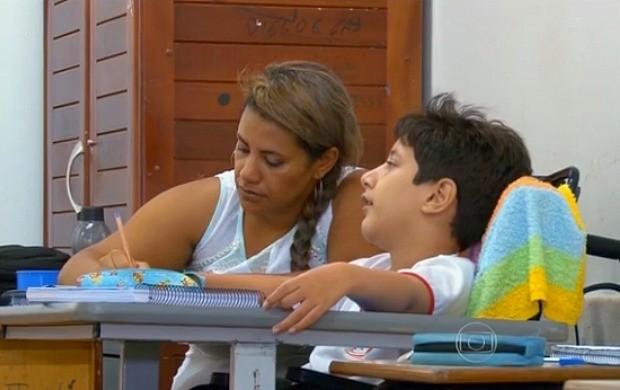 Jornal Nacional destaca inclusão de alunos especiais em RO (Foto: Jornal Nacional)