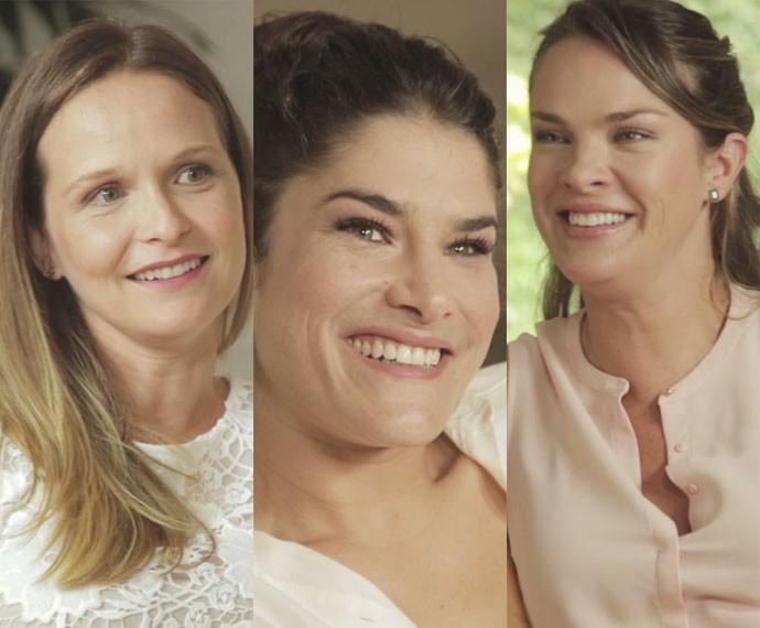 Fernanda, Pricila e Letícia falam dos filhos (Foto: Gshow /TV Globo)