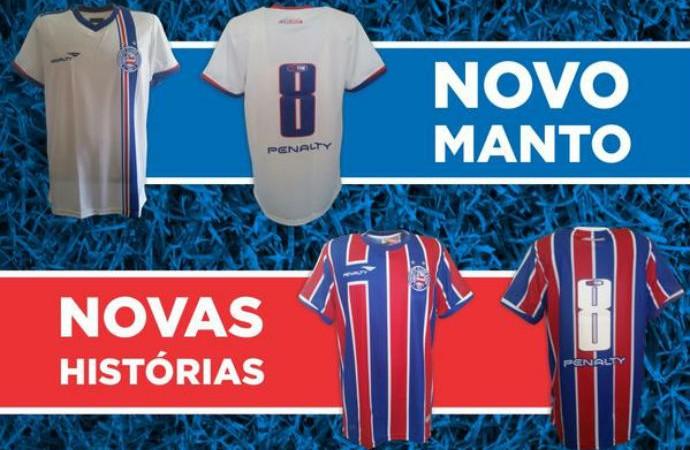 Bahia novos uniformes (Foto: Divulgação / EC Bahia)