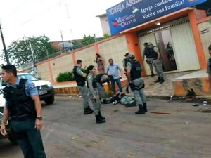 PM foi baleado durante abordagem de rotina, no Acre (Foto: Reprodução Whatsapp)