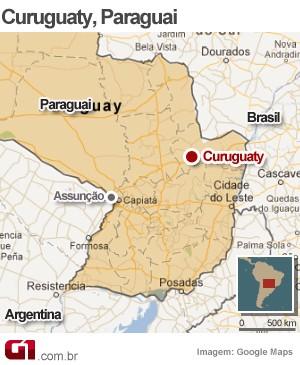 mapa confronto paraguai (Foto: 1)