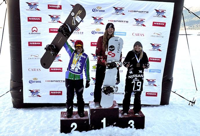 Isabel Clark pódio snowboard  (Foto: Divulgação / CBDN)