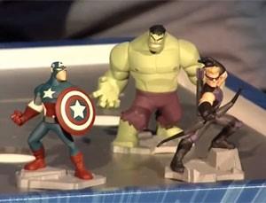 Bonecos de heróis da Marvel que são usados no game 'Disney Infinity 2' (Foto: Divulgação/Disney)