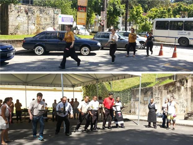 Garçons se divertem em corrida em Petrópolis 2 (Foto: Andressa Canejo/G1)