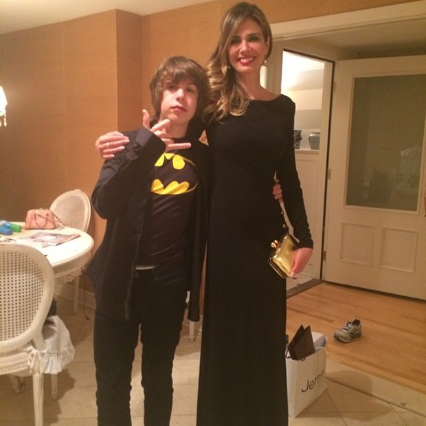Luciana Gimenez com o filho, Lucas  (Foto: Reprodução/Instagram)