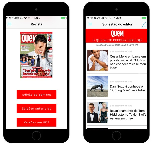 Novo aplicativo de QUEM tem a revista na íntegra, além de conteúdos especiais do site  (Foto: Divulgação)