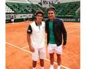 """Número 1 juvenil, Orlandinho tieta Federer em Roland Garros: """"Lenda"""""""