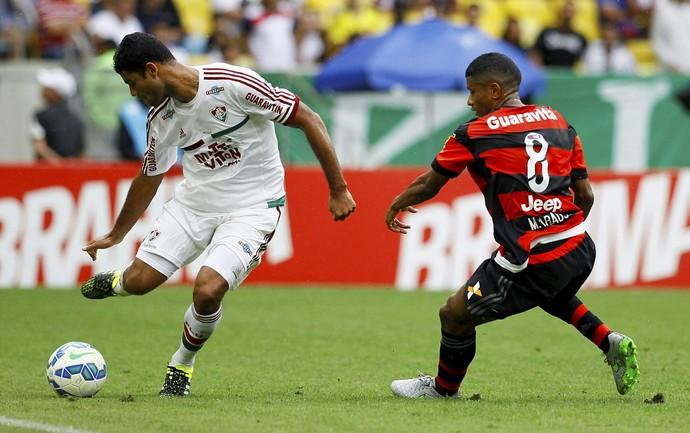 Gum e Márcio Araújo - Fluminense x Flamengo (Foto: Marcelo Carnaval / Ag. O Globo)