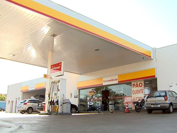 Posto de combustíveis no Jardim Interlagos onde o agente foi morto a tiros (Foto: Reprodução EPTV)
