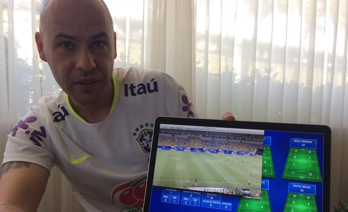 Mauricio Dulac analista desempenho seleção brasileira (Foto: Alexandre Lozetti)