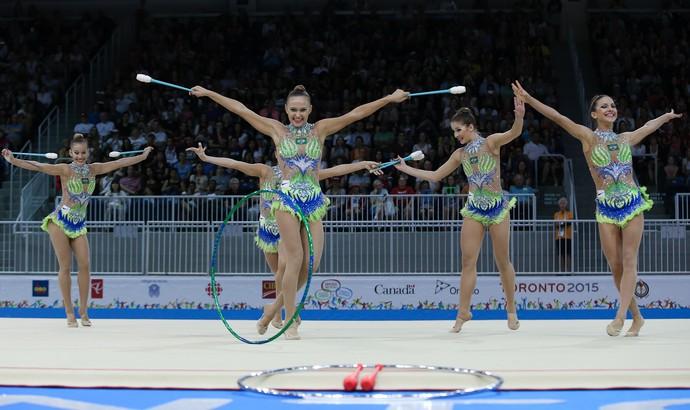 Brasil é pentacampeão pan-americano na ginástica rítmica (Foto: Ricardo Bufolin/CBG)