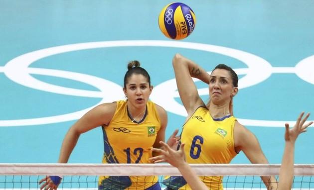 Jogo de vôlei Brasil x China (Foto: YVES HERMAN / REUTERS)