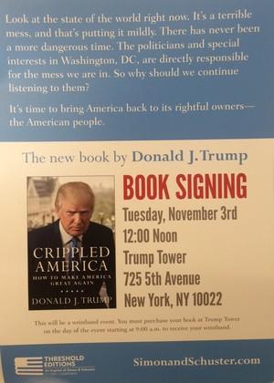 Lançamento livro Donald Trump Nova York (Foto: GloboEsporte.com/Martin Fernandez)