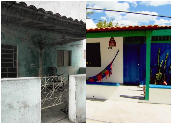 Antes e depois no Lar Doce Lar (Foto: Reprodução)