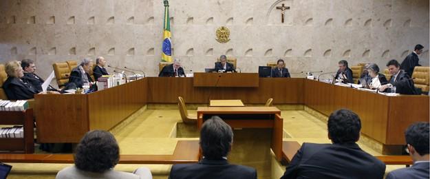 Plenário do Supremo Tribunal Federal durante julgamento do mensalão (Foto: Gervásio Baptista/SCO/STF)