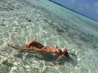 Ex-BBB Renatinha posa no mar e recebe elogios: 'Lindona'