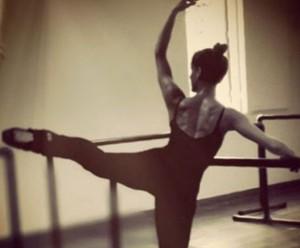 Fernanda de Freitas em aula de balé (Foto: Arquivo pessoal)
