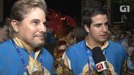 Edson Celulari e Enzo Celulari falam sobre expectativa para o desfile da Beija-Flor