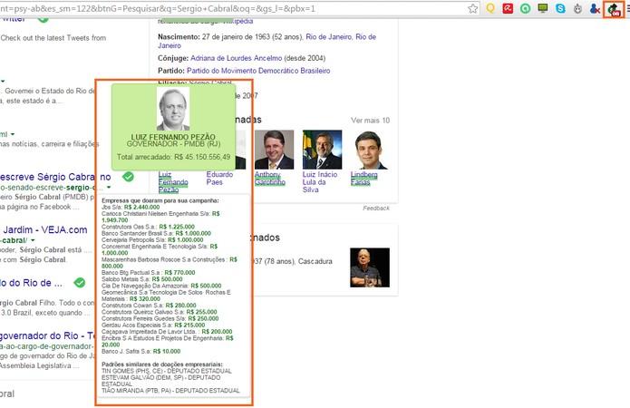 Informação aparece destacada na tela com fonte do TSE (Foto: Reprodução/Barbara Mannara)