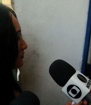 Francisca Adenádia se recusou a falar com a imprensa (Foto: Rafael Barbosa/G1)