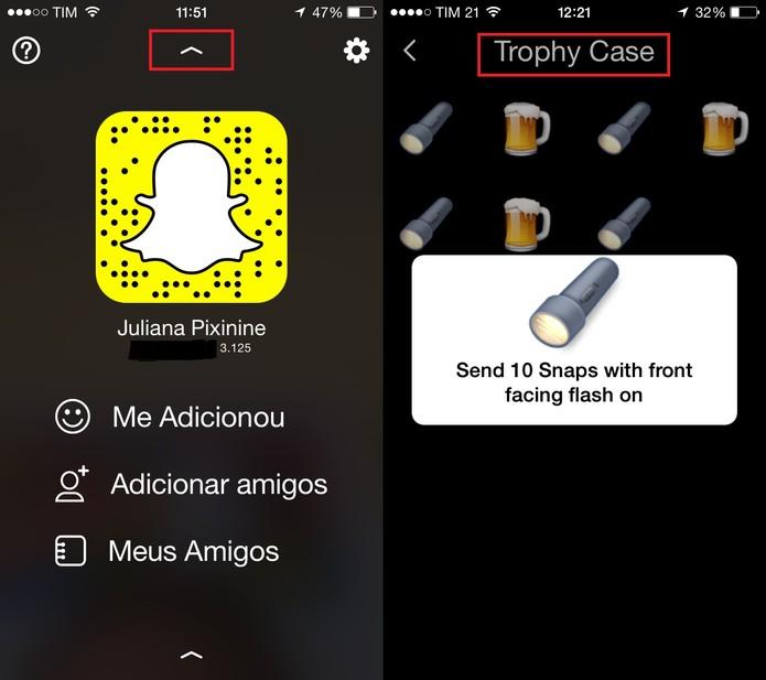 Snapchat ganha nova sala de Troféus (Foto: Reprodução/Juliana Pixinine)