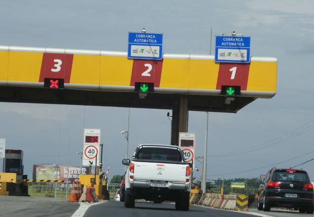 Pedágio de estrada sob concessão da CCR Autoban ; serviço Sem Parar ; estradas ; rodovias ;  (Foto: Divulgação)